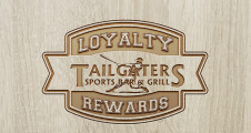 Wood Engraved  loyalty Logo banner